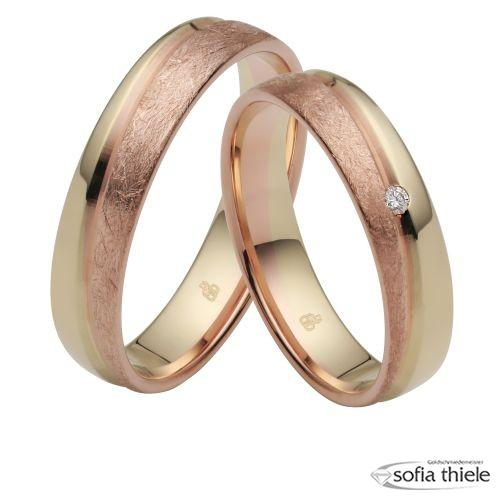 Trauringe Gold Paar R-10-51194-045