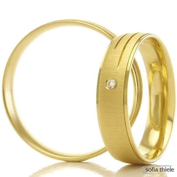 Trauringe Gold Paar B-48-07011-12