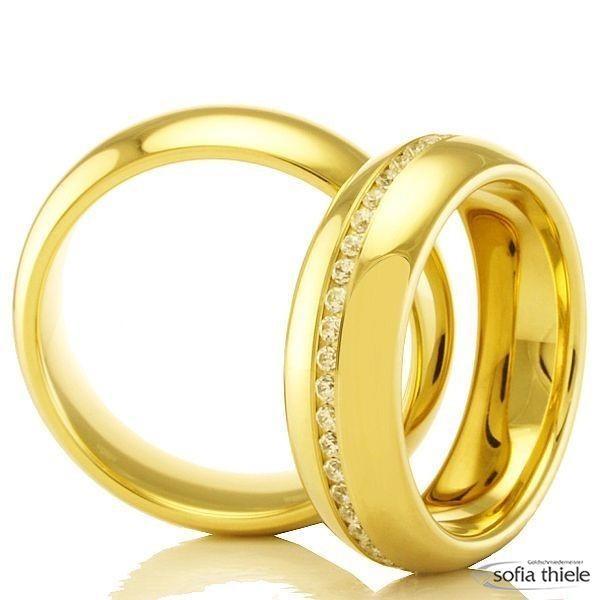 Trauringe Gold Paar 02-50070-080