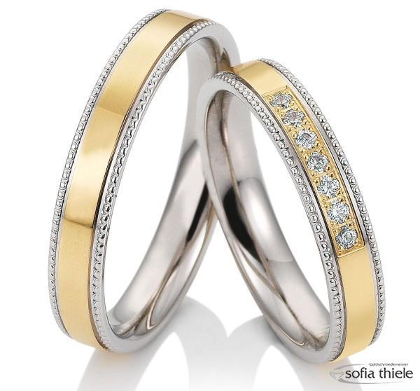Trauringe Gold Saint Maurice 585/- Paar 49-81723-0