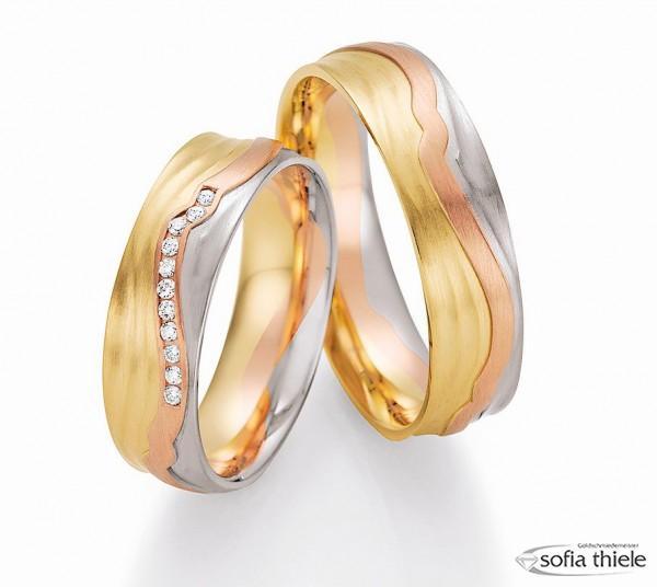 Trauringe 585/- Weißgold Rotgold Gelbgold 66-44170-180